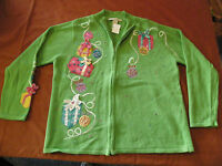 LOOK AT The UGLIEST ugly crazy tacky vintage CHRISTMAS party SWEATER   LT - 4