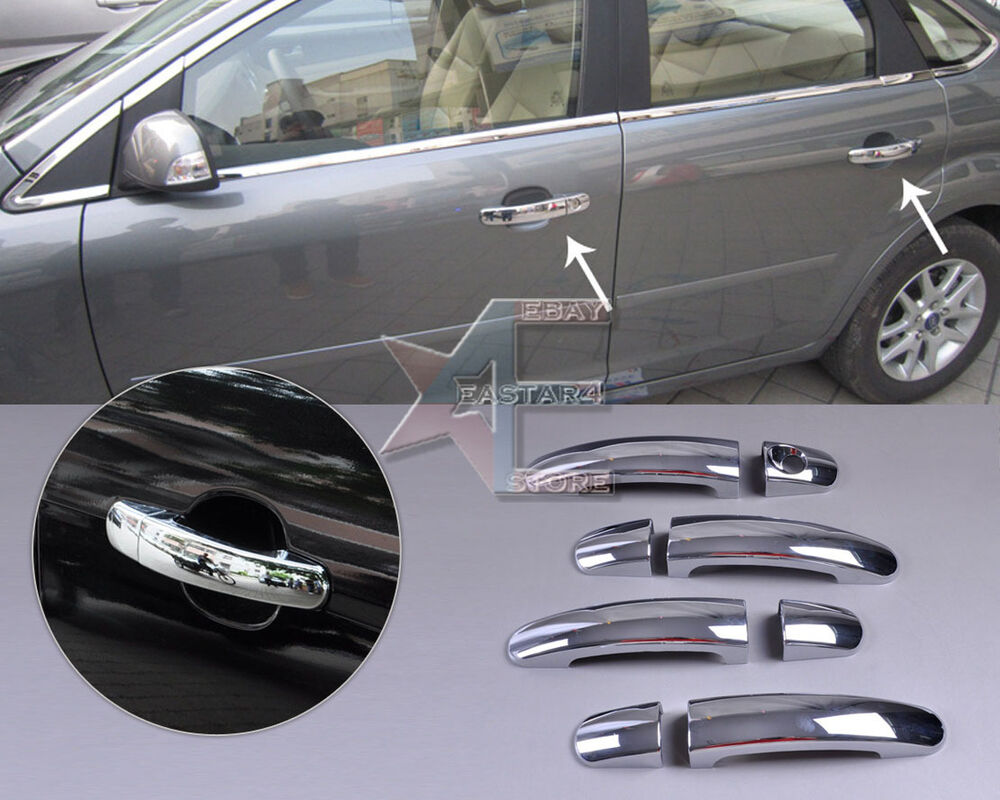 New Chrome Door Handle Cover Trim For Ford Focus 2012 2013 Ebay