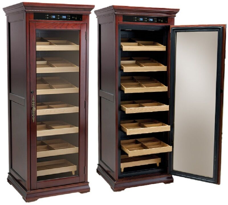 The Remington Electronic Cigar Humidor Display Case Holds