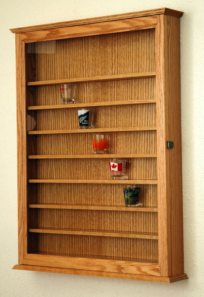 72 Shot Glass Shooter Display Case Holder Cabinet Wall