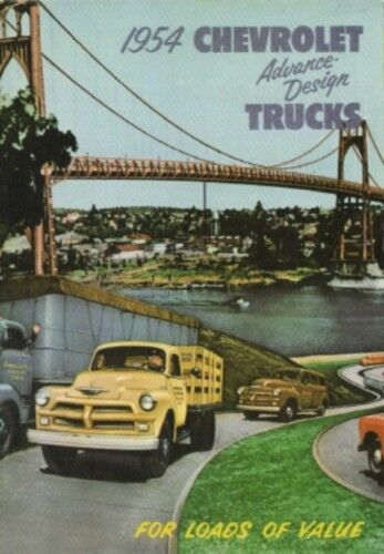 Chevrolet 1954 Truck Sales Brochure 54 Chevy Pick Up