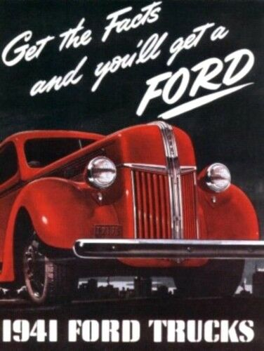 Ford 1941 Truck Sales Brochure 41 Pick Up Ebay