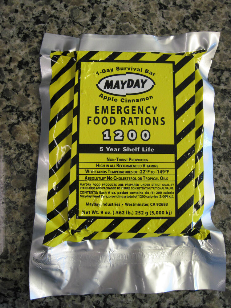 Mayday apple cinnamon emergency food rations survival 1200 for Mayday food bar 3600 calories