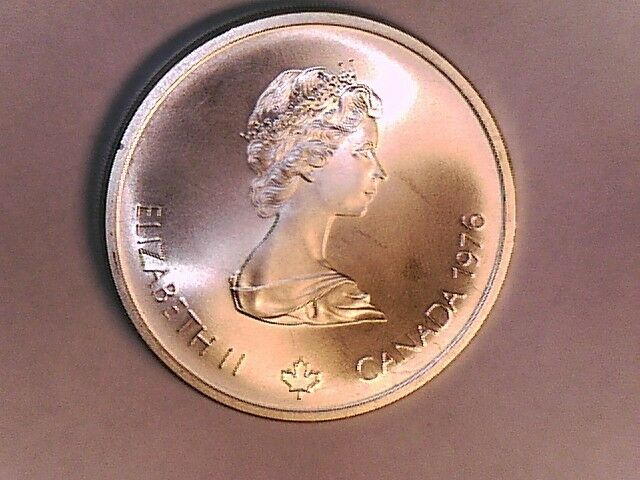 1976 Ten Dollar Canadian Silver Coin Olympic Velodrome