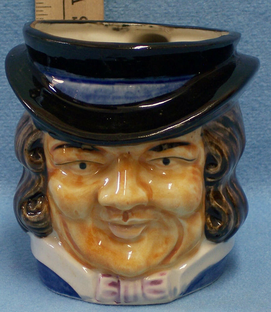 Vintage Toby Face Mug Cup Colonial Business Man Ceramic