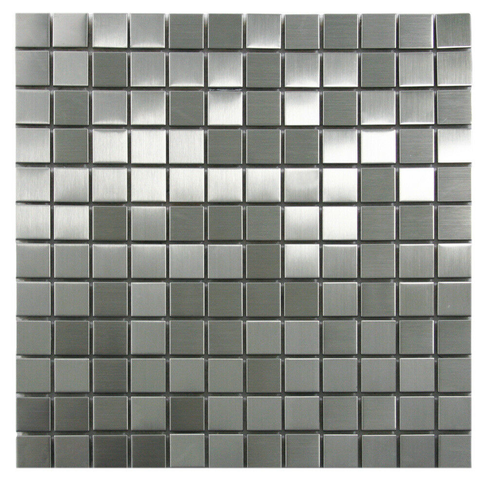 Stainless Steel Mosaic Tile 1x1 For Backsplashes Showers