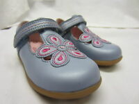*SALE* Girls Startrite T Bar Shoes In Blue Leather 'April' F & G Width Fitting