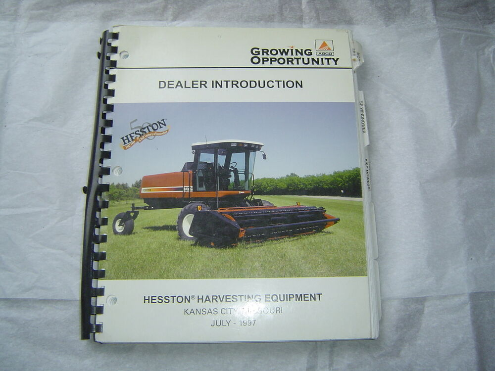 Hesston 8450 Manual