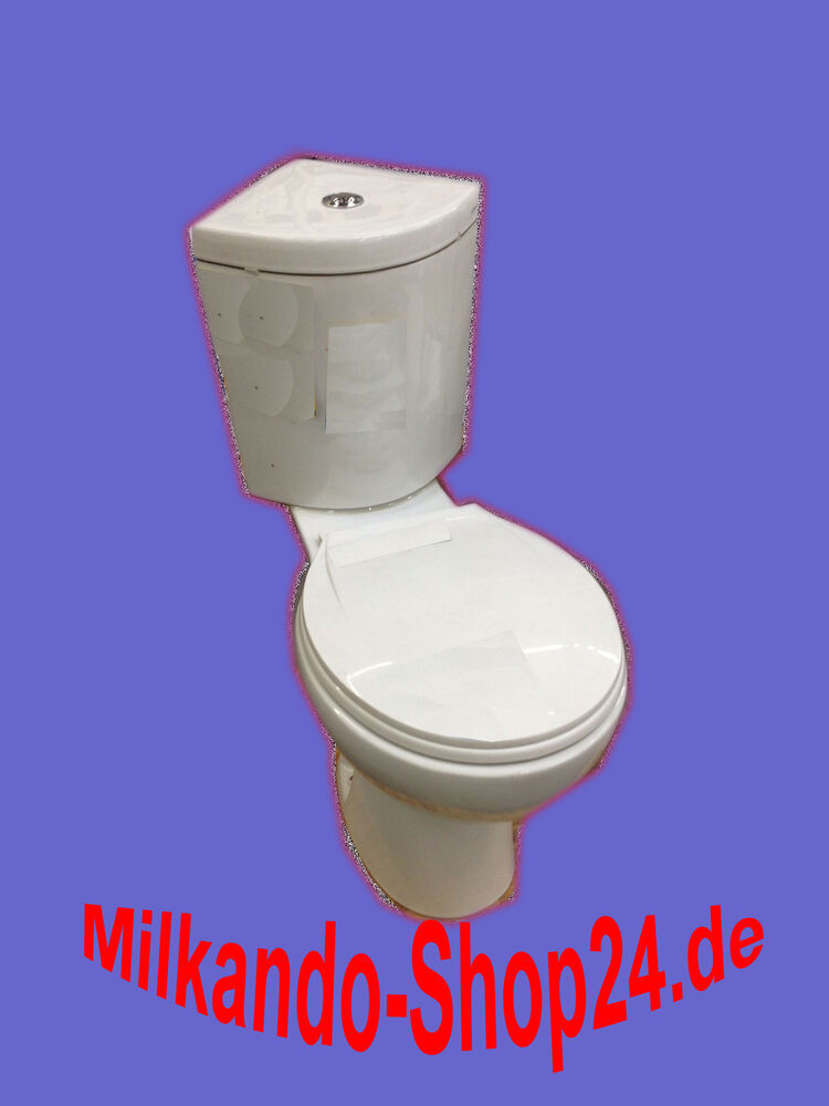 design eck toilette wc stand komplett set mit sp lkasten keramik ecksp lkasten ebay. Black Bedroom Furniture Sets. Home Design Ideas