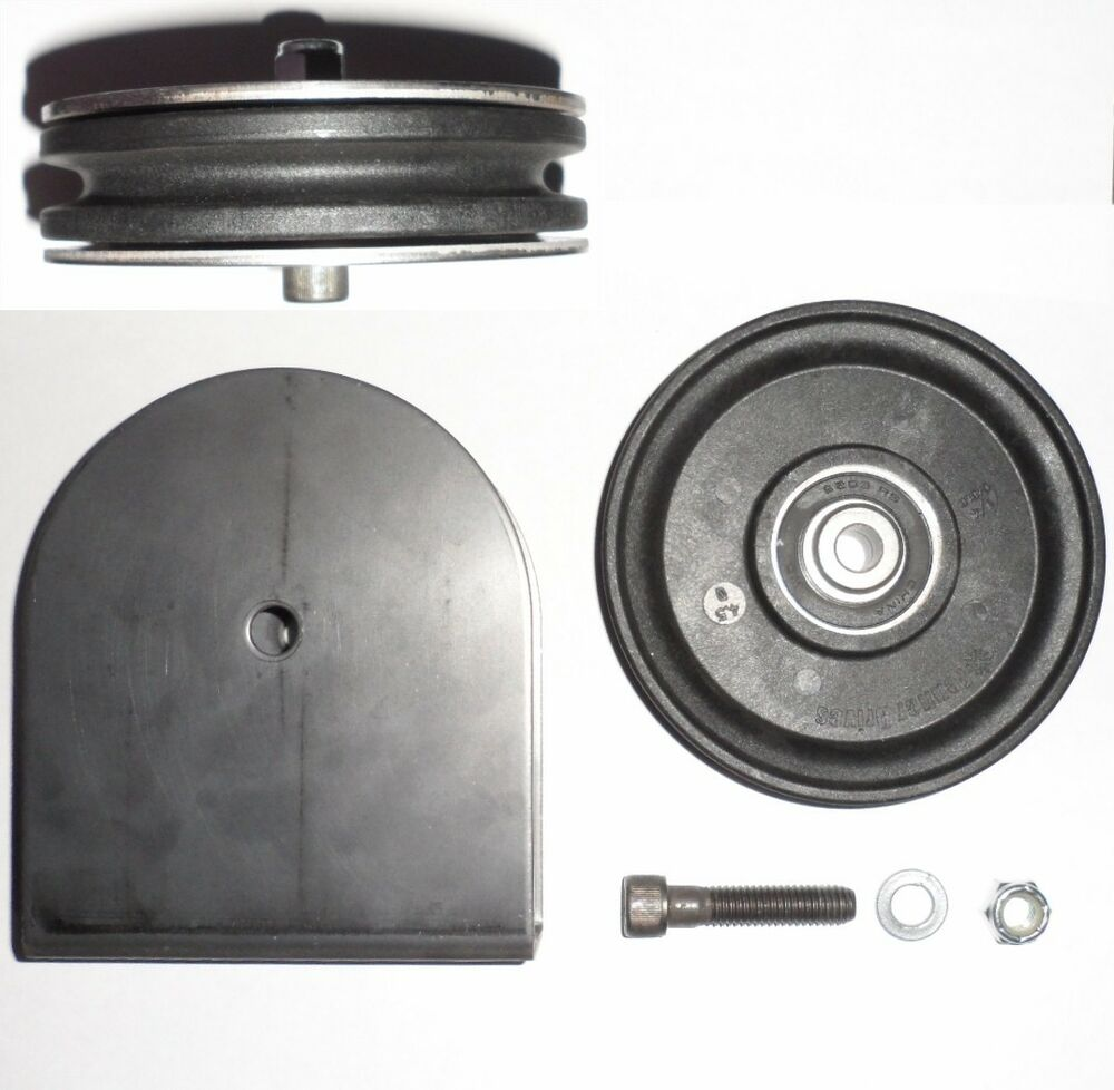 Rope Idler Pulley : Ea od nylon wire rope cable pulley kit weld on
