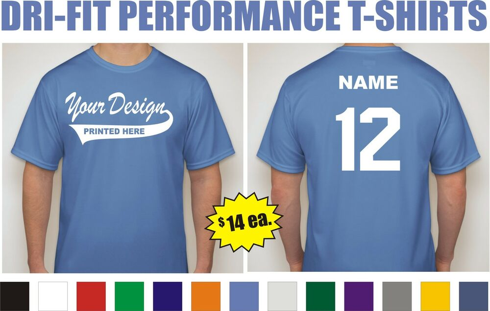 12 custom printed dri fit moisture wicking baseball team t for Custom dri fit t shirts