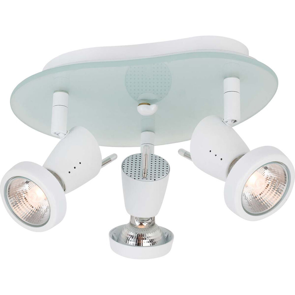 White and frosted glass adjustable light spot ceiling