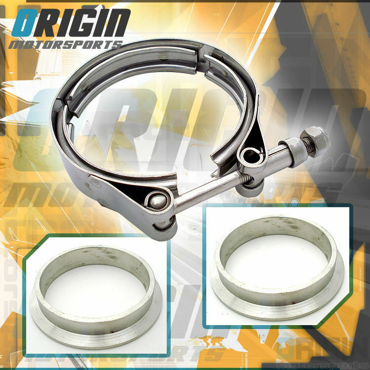"""2.5"""" Inch Turbo Exhaust Down Pipe Stainless V-Band Clamp ..."""