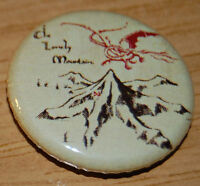 """THE LONELY MOUNTAIN"" MAP 25MM BUTTON BADGE LORD OF THE RINGS HOBBIT JRR TOLKIEN"