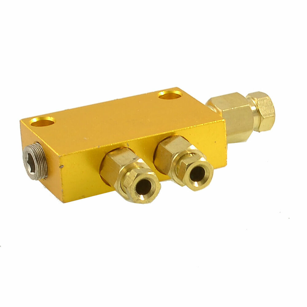 Air pneumatic brass adjustable ways distributor manifold