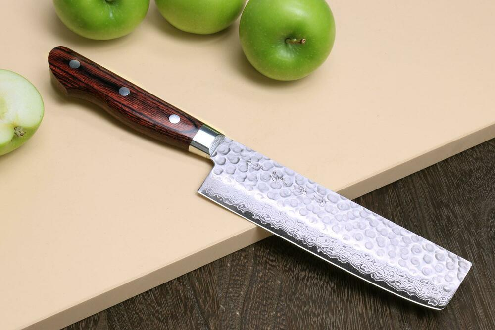 vg 10 hammered damascus usuba 16cm japanese sushi chef knife yoshihiro ebay. Black Bedroom Furniture Sets. Home Design Ideas