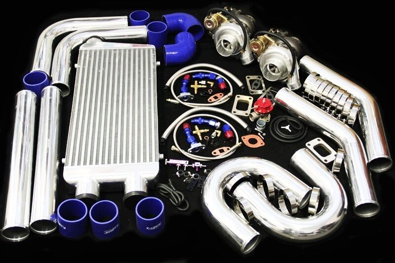 T3/T4 TWIN TURBO CHARGER KIT 800HP FOR FORD MUSTANG COBRA ...