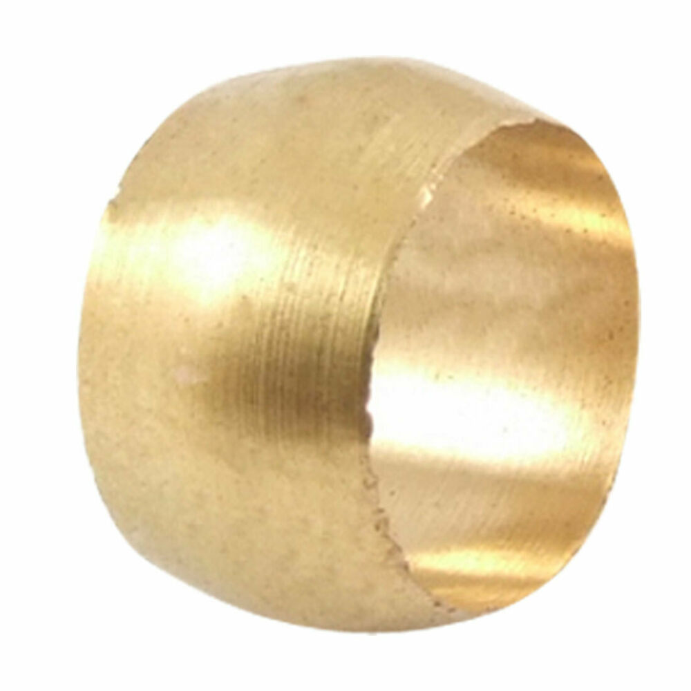 Quot brass pipe olive compression ring fitting