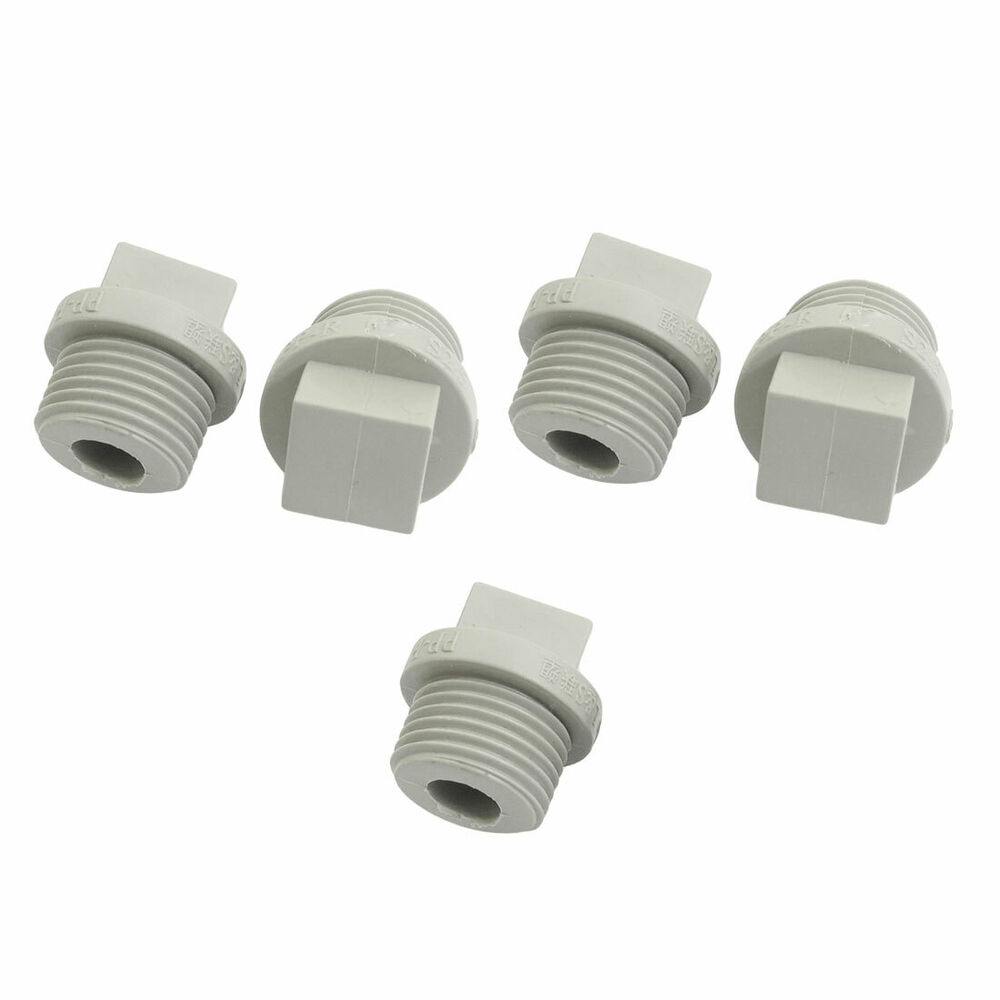 Pcs mm male thread gray ppr pipe end caps plug ebay