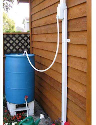 Rain Barrel Diverter Kit For 2x3 Downspout Save Water Ebay
