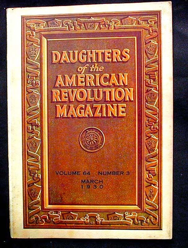 Daughters Of The American Revolution Lineage Books, 1890