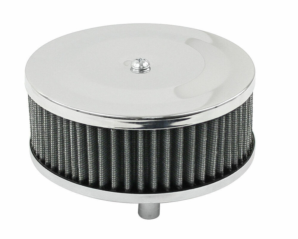 Vw Air Cleaners : Empi vw bug quot tall round chrome air cleaner stock