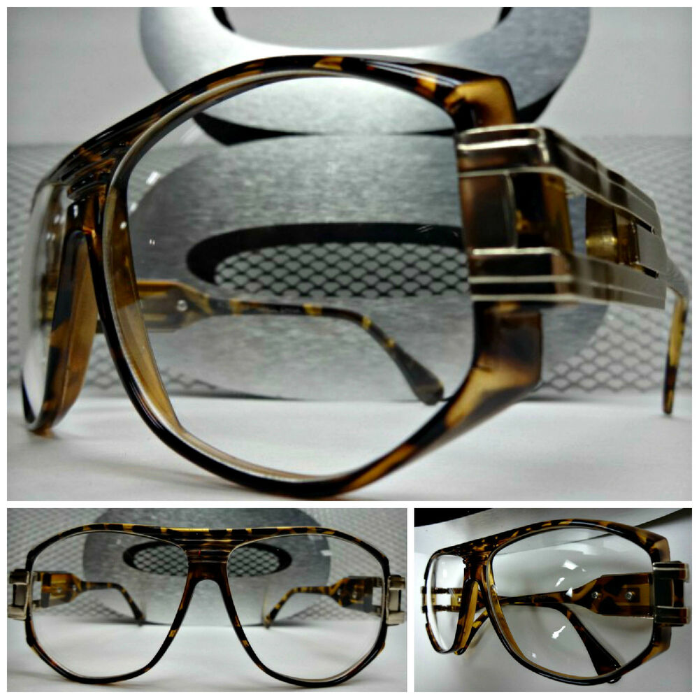 Men Women HOT VINTAGE AVIATOR FASHION Clear Lens EYE ...