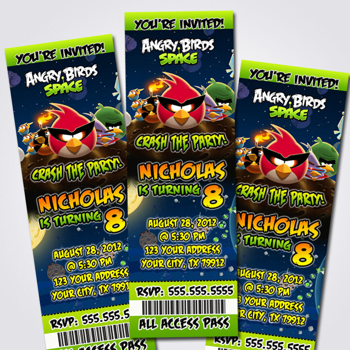 Great Angry Birds Party Invitations Pictures Inspiration ...