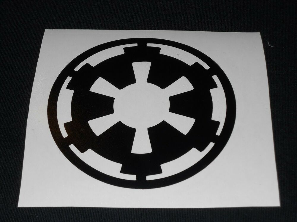 star wars imperial logo decal ebay. Black Bedroom Furniture Sets. Home Design Ideas
