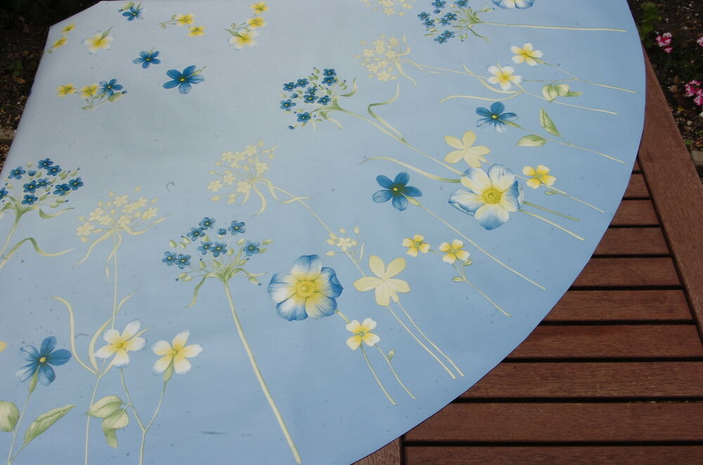 Tablecloth Co 60 Quot Wild Flowers Blue Wipe Clean Wipeable