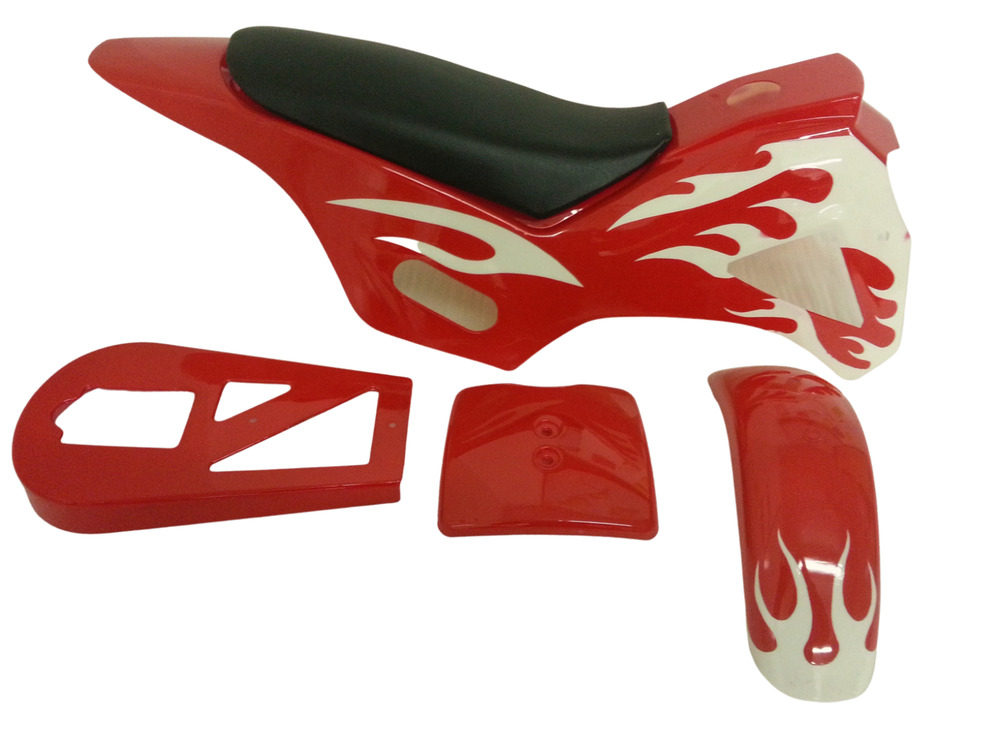 49cc Mini Dirt Bike Fairing Plastics Kit 5 Piece With Seat