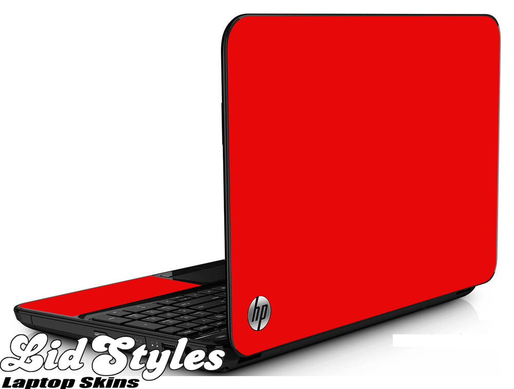 Lidstyles Red Vinyl Laptop Skin Cover Protector Decal Fits