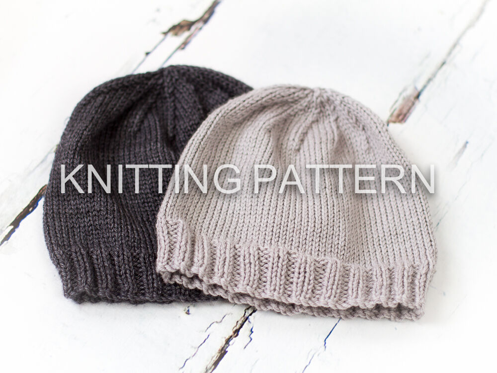 Knitting Pattern Classic Beanie Hat Children Amp Adult
