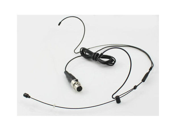 Black Dual Ear Headset Head Microphone Mic For Shure
