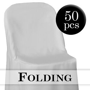 50 White Folding Chair Covers Wedding Party Decorations Ebay