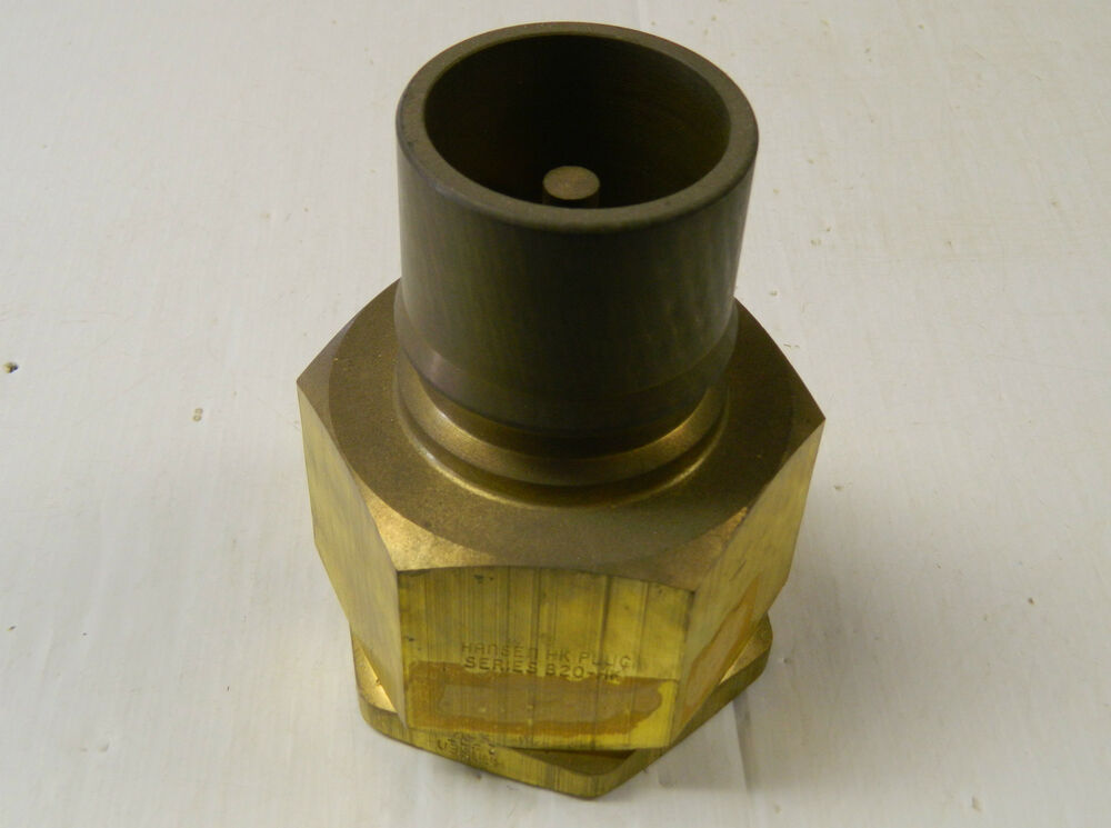 New hansen male quick connect brass coupling plug b hk