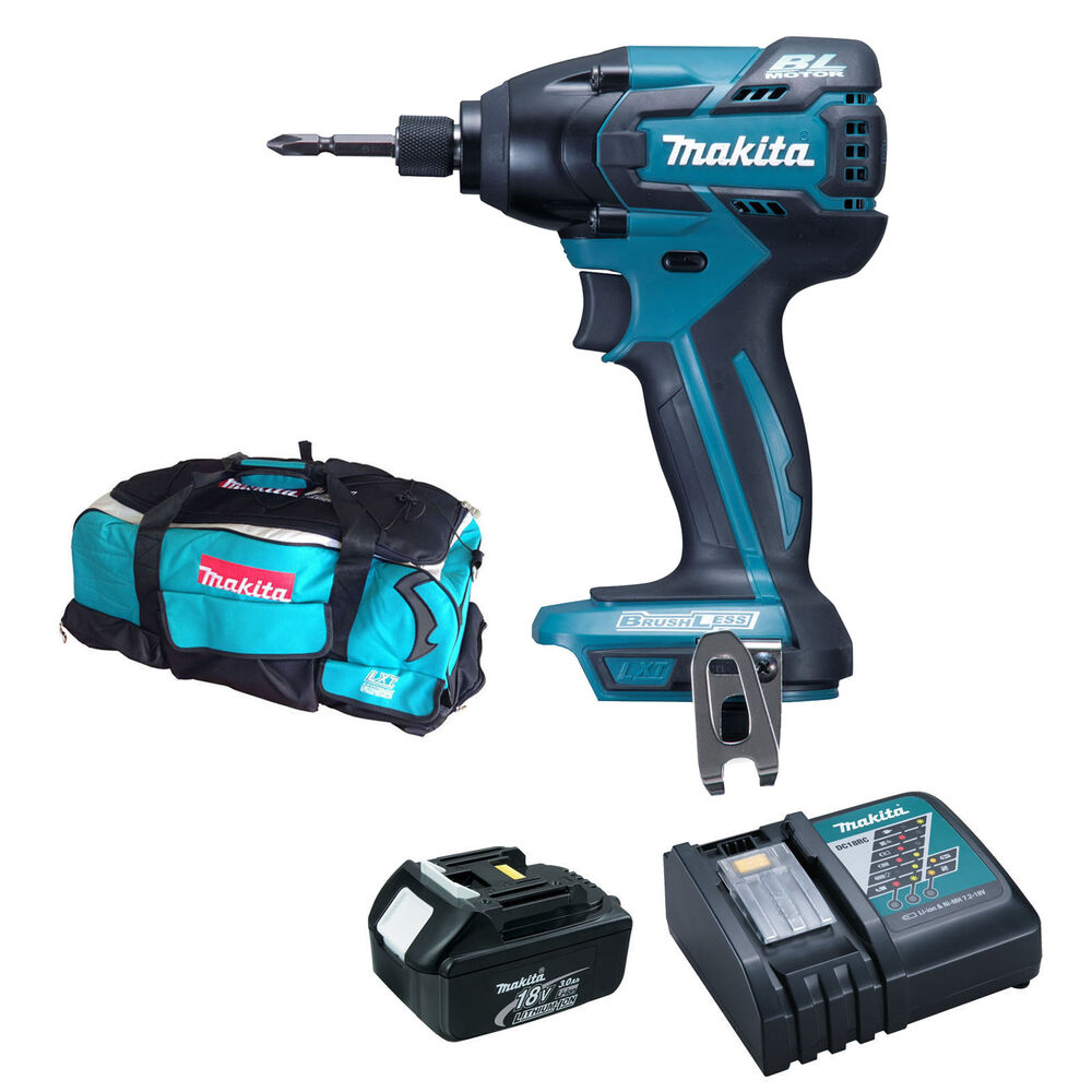 makita 18v btd129 impact driver bl1830 battery dc18rc. Black Bedroom Furniture Sets. Home Design Ideas