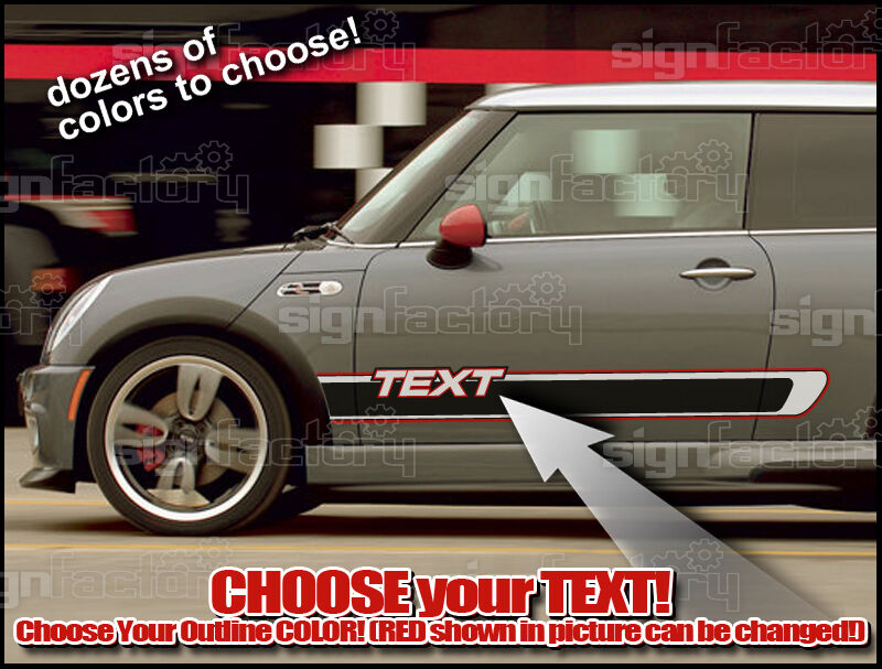 Truck Stickers For Back Window >> 2001 & up Mini Cooper Custom JCW GP style Vinyl Decal Graphics Rocker Stripes | eBay