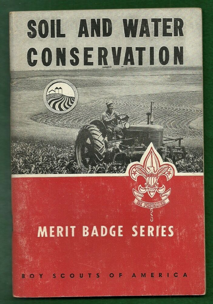 1963 vintage boy scout merit badge book soil and water for Soil and water facts