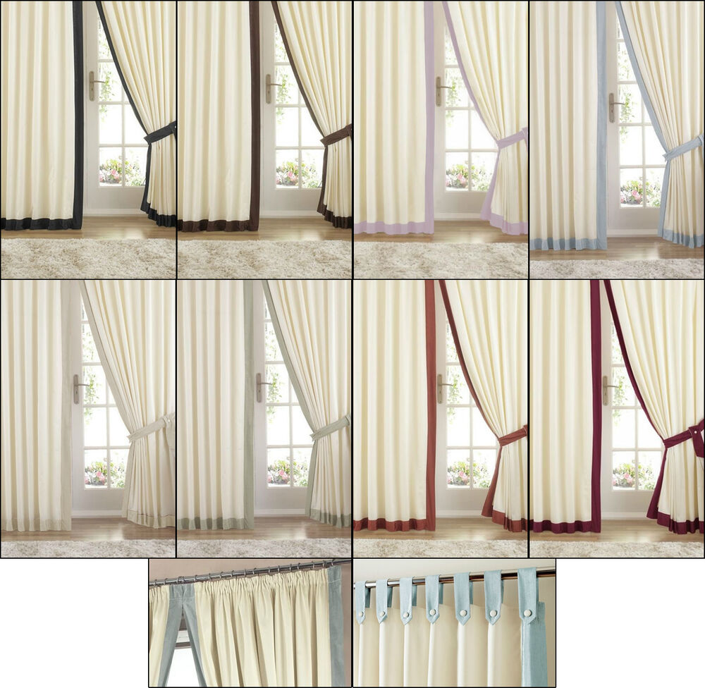 Curtains With Greek Key Trim 120 84 Top Tab Curtains