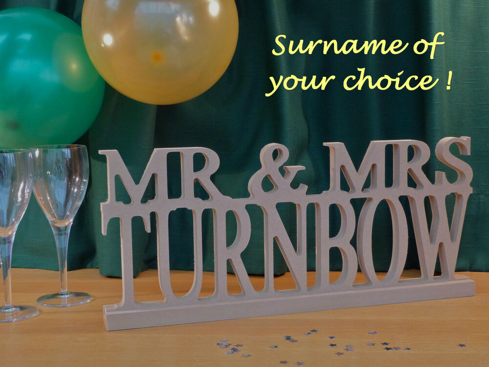 Mr And Mrs And Personalised Surname