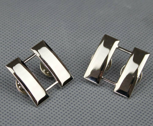 PAIR US ARMY OFFICER'S CAPTAIN RANK COLLAR INSIGNIA BADGES ...