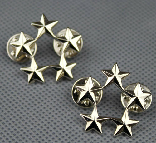 WWII US ARMY OFFICER 5 STAR GENERAL RANK BADGES PIN US