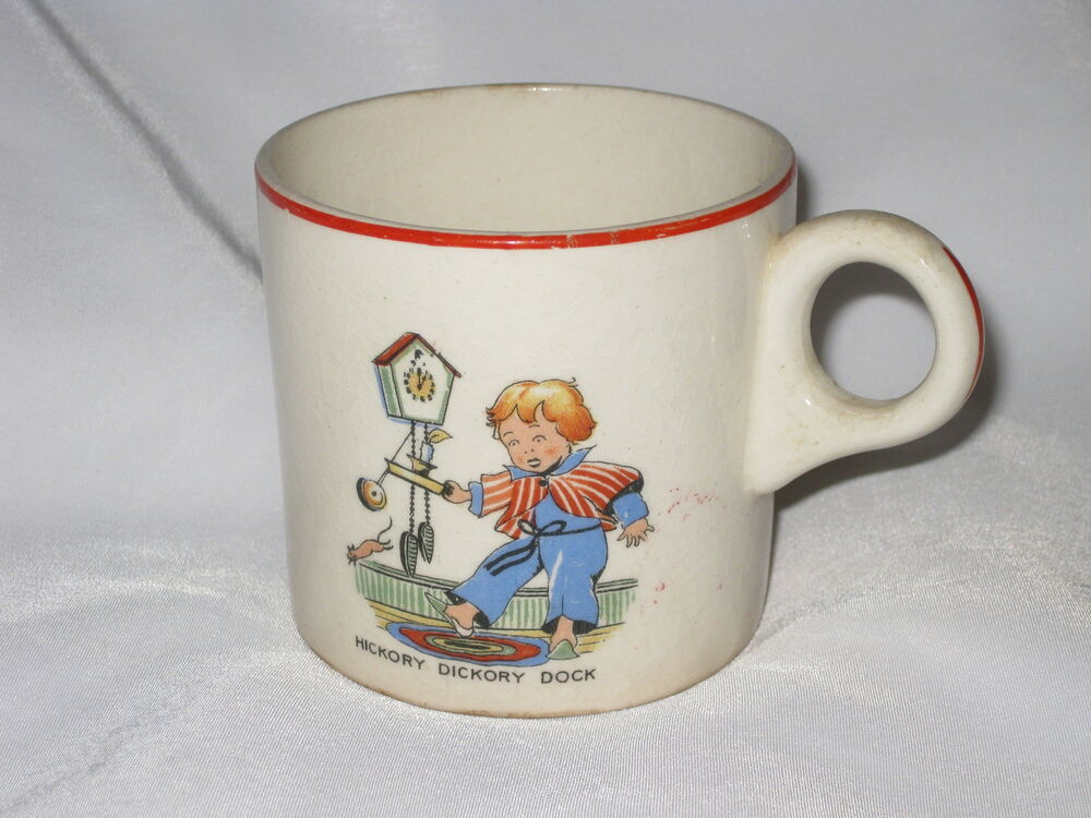 Vintage hickory dickory dock childrens nursery rhyme - Cups and kids ...