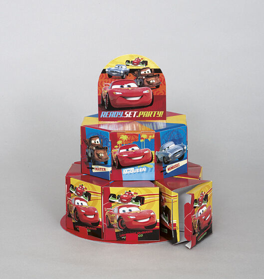 Cars favor boxes table centerpiece kit birthday party