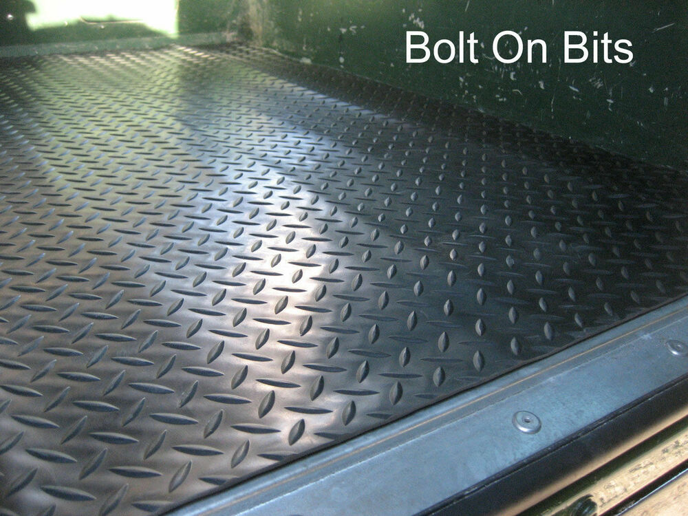 Rubber Chequer Plate Load Mat LandRover Defender 90 1983 ...