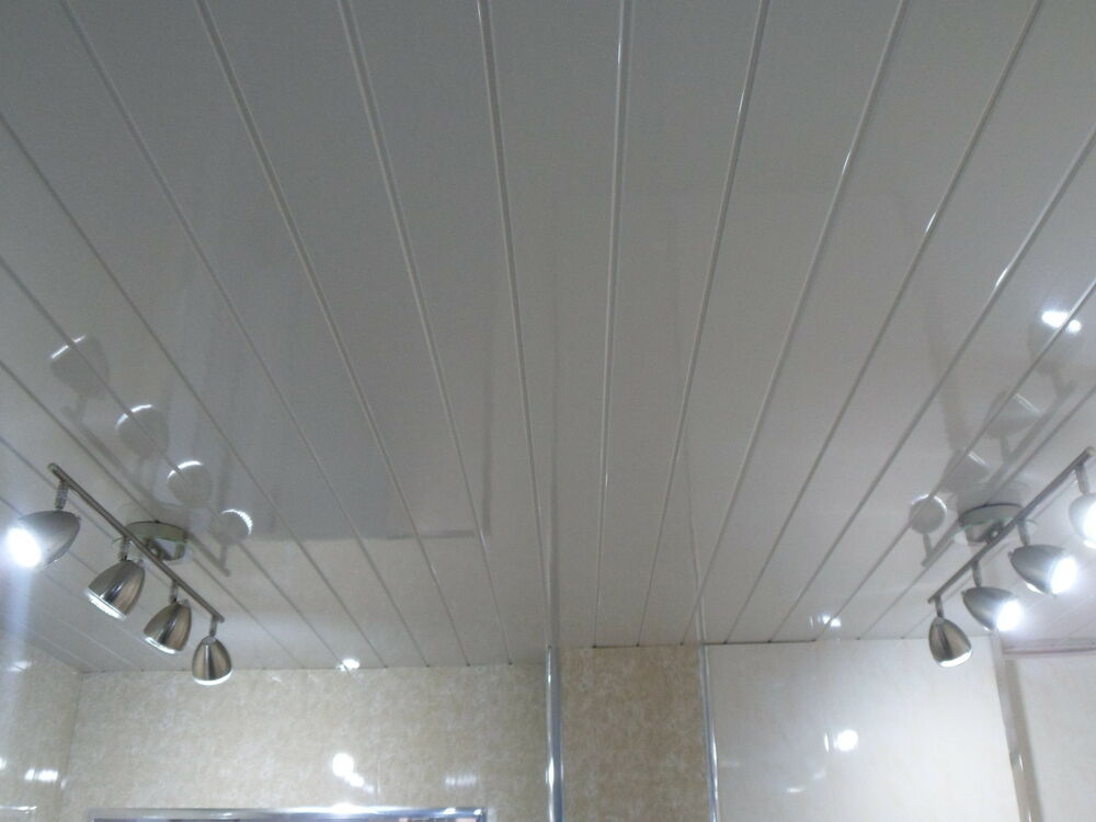 6 white v groove ceiling panels pvc plastic wall ceiling bathroom cladding ebay