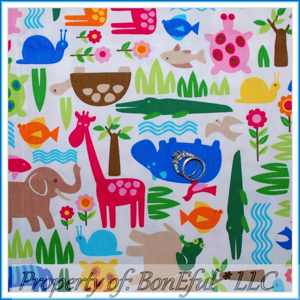 Boneful Fabric Fq Baby Unisex Nursery Decor Animal Safari
