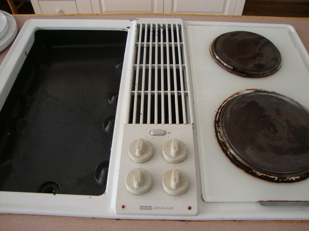 Jenn Air Electric Cooktop With Downdraft Ebay