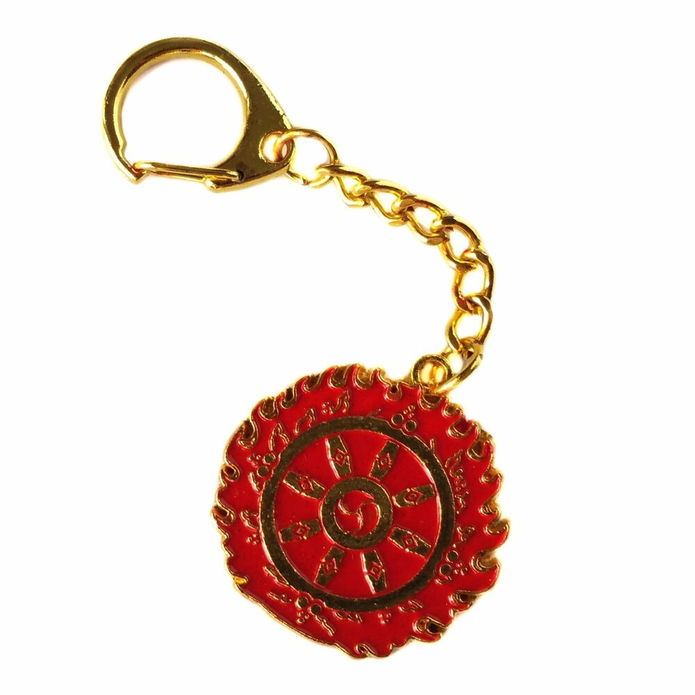 Details about Feng Shui Magic Fire Flaming Wheel Key Chain Key Ring Amulet  for protection a59e7265d449